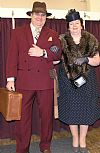 costume, hire, period, 1940's, dress, gentleman, couple, spiv, wide boy, suit,Goodwood revival, Pickering,