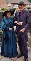 victorian, daywear, couple, period, costume,