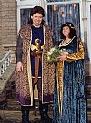 medieval, couple, baron, costume, period, hire,
