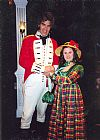 regency, uniform,couple, costume, period, hire,