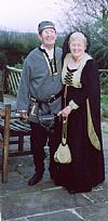 couple, medieval, costume, period, hire,