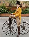 victorian, period, costume, cyclist, transport, hire,