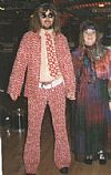 1970's costume, period, suit, hippy, hire, flares, stacked shoes, kipper tie,