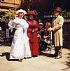 victorian, period, costume, group, trio, hire,