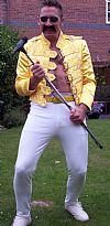 1980'S, Freddie Mercury, costume, period, popstars, hire,