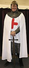 medieval, nobility, period, hire, costume, middle ages, chainmail, armour, St. George,