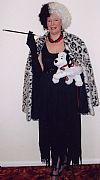 Cruella de Villw, costume, hire, period, 101 dalmations, disney,