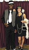 costume, period, 1920's, hire, couple, flapper, gangster,