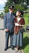 RAF, hire, period, couple, uniform, wartime, dress, 1940's, Goodwood revival, Pickering,