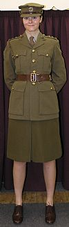 hire, costume, ATS, army, wartime, uniform, period, captain, Samantha Foyles War,Goodwood revival, Pickering,