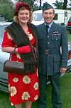 RAF, costume, 1940's, uniform, dress, hire, period, wartime, goodwood revival , couple, Pickering,