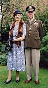 1940's, hire, period, costume, couple, military, american, US, wartime, Goodwood revival, Pickering,