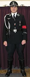 1940's, gestapo, german, wartime, uniform, period, costume, hire, Goodwood revival, Pickering,