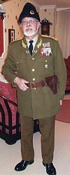 russian, uniform, bond, general, costume, hire, period, Goodwood revival, Pickering,